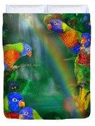 Rainbows In Paradise Duvet Cover