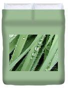 Raindrops On Blades Of Grass Duvet Cover