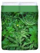 Raindrops On Buttercups Ranunculus Duvet Cover