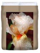 Raindrops On Orange Iris Duvet Cover