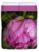 Raindrops On Peony Duvet Cover