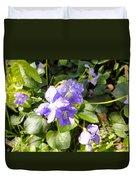 Raindrops On Violets Duvet Cover