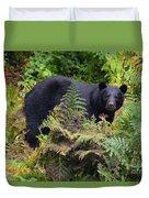 Rainforest Black Bear Duvet Cover