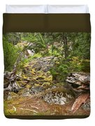Rainforest Rock Slide Duvet Cover