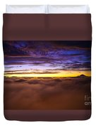 Rainier Above The Clouds Duvet Cover