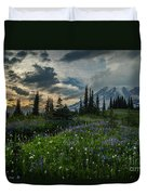 Rainier Abundance Of Flowers Duvet Cover