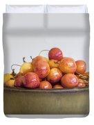Rainier Cherries And Ceramic Bowl Duvet Cover