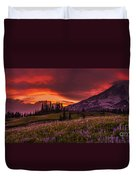 Rainier Fire Mountain Panorama Duvet Cover
