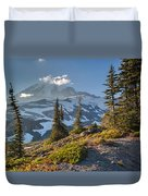 Rainier From Paradise Glacier Duvet Cover