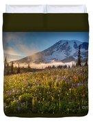 Rainier Golden Sunlit Meadows Duvet Cover