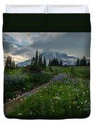 Rainier Meadows Wandering Duvet Cover