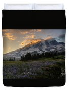 Rainier Purple Lupine Carpet Duvet Cover