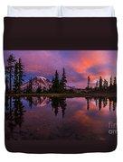 Rainier Soaring Sunrise Reflection Duvet Cover
