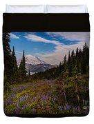 Rainier Tipsoo Wildflowers Duvet Cover