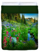 Rainier Wildflower Creek Duvet Cover