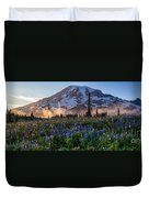 Rainier Wildflower Meadows Pano Duvet Cover