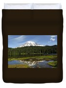 Rainier's Reflection Duvet Cover