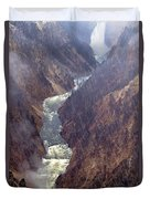 Rainstorm Over Grand Canyon Of The Yellowstone Duvet Cover