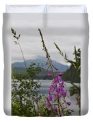 Rainy Day Fireweed Duvet Cover