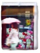 Rainy Day Kitty Duvet Cover