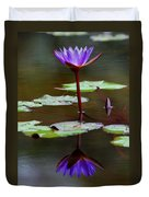 Rainy Day Lotus Flower Reflections IIi Duvet Cover