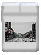 Rainy Day On The Parkway Duvet Cover
