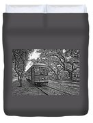 Rainy Day Ridin' Monochrome Duvet Cover by Steve Harrington