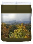 Rainy Fall Day In The Mountains Duvet Cover