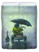 Rainy Ride Duvet Cover