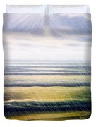 Rainy Seascape Duvet Cover