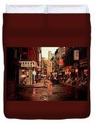 Rainy Street - New York City Duvet Cover by Vivienne Gucwa