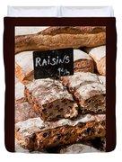 Raisin Bread Duvet Cover