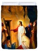 Raising Of Lazarus Duvet Cover