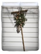 Rake And Wreath Duvet Cover