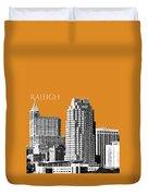 Raleigh Skyline - Dark Orange Duvet Cover