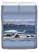 Ram Island Lighthouse Duvet Cover