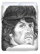 Rambo-sylvester-stallone Duvet Cover by Murphy Elliott