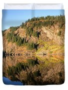 Rampart Ridge In Rachael Lake Duvet Cover