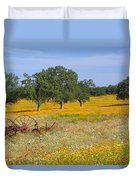Ranch And Wildflowers And Old Implement 2am-110556 Duvet Cover