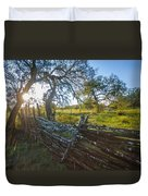 Ranch Fence Duvet Cover