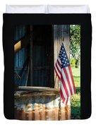 Ranch Flag Duvet Cover