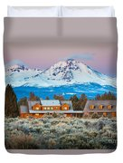 Ranch House And Sisters Duvet Cover