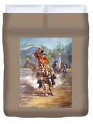 Ranch Rodeo Time Duvet Cover