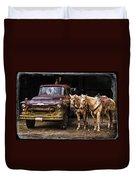 Ranch Transportation Duvet Cover