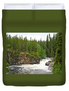 Rancheria Falls Along Alaska Highway In Yk-canada   Duvet Cover