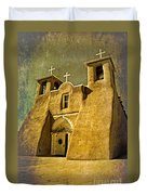 Ranchos Church In Old Gold Duvet Cover