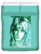Randy Rhoads Portrait Duvet Cover