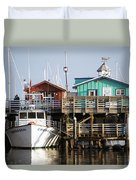 Randys Whale Watching And Fishing Trips Duvet Cover