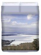 Rangeley Maine Winter Landscape Duvet Cover