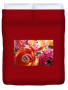 Ranunculus Close-up Duvet Cover